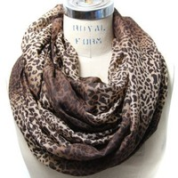 Scarfand&#x27;s Colorful Leopard Print Infinity Scarf