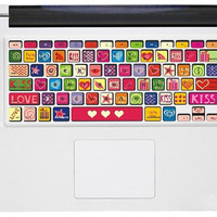 Love Keyboard Decal  -- Apple Mac Keyboard Decal Mac Keyboard Sticker Macbook Keyboard Decal Macbook Keyboard Stickers Keyboard Skin Cover
