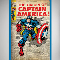 Captain America Cover Poster
