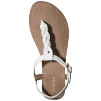 Women's Merona® Erin Braided Upper Sandal - White