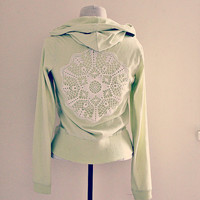 The peace hoody. an ooak yoga inspired sweater.