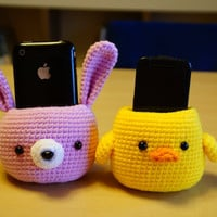 Crochet amigurumi  pattern PDF - Cell phone holder