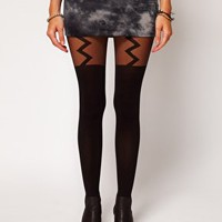 ASOS Lightning Bolt Suspender Tights at asos.com
