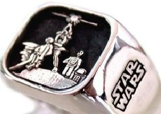 Solid Sterling Silver 925 STAR WARS Ring ALL Size by blackmore5253