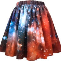 Crimson Galaxy Skirt, Organic Cotton