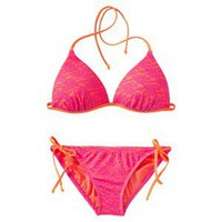 Xhilaration Junior&#x27;s 2-Piece Swimsuit -Pink/Orange