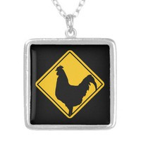 Warning: Cocky! Pendant from Zazzle.com