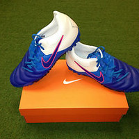 Nike5 Bomba Pro Blue New Authentic Soccer Turf Shoe Free Shipping in USA