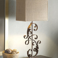 """Iron Scroll"" Mini Lamp - Horchow"
