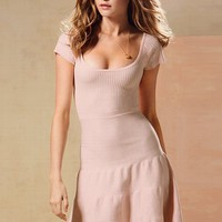 Short-sleeve Cotton Sweaterdress