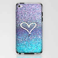 glitter heart- photograph of glitter  iPhone &amp; iPod Skin by Sylvia Cook Photography | Society6