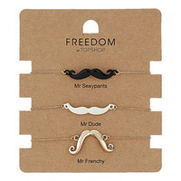 Novelty Moustache Bracelet Pack
