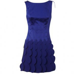 Bqueen Scallop Shift Dress Blue K379L - Designer Shoes|Bqueenshoes.com