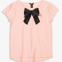 Layered Lace Bow Top | FOREVER21 girls - 2027704858