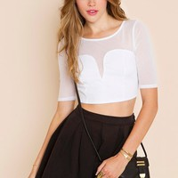 Gia Crop Top - White in  Clothes Tops Cropped at Nasty Gal