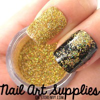 nailartsupplies | Shattered Gold - Super Shimmery Gold Raw Nail Glitter Mix 3.5 Grams | Online Store Powered by Storenvy