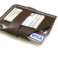 Leather Wallet Men Wallet Leather Card Holder Slim by leathermix