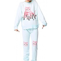 Wildfox Couture Party Cat Malibu Skinny Sweat Pants | Dolls Kill