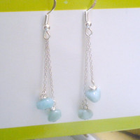 Larimar earrings for a pretty and simple look