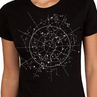 Handmade Gifts | Independent Design | Vintage Goods Celestial Night Sky T-Shirt - Ladies - Apparel - Girls