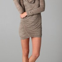 Splendid Charcoal Heather Cowl Dress | SHOPBOP