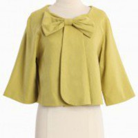 Jacklyn Lime Bow Jacket