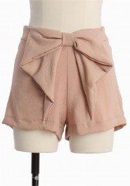 Romana Dream Bow Shorts In Peach