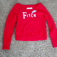 Abercrombie and Fitch Women's Sweater size Medium in Red