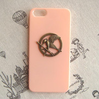 Steampunk Hunger Game Logo hard case For Apple iPhone 5 case cover