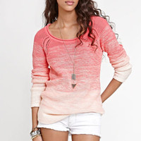 Kirra Eyelet Raglan Seam Sweater at PacSun.com