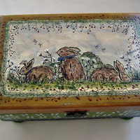 Original Handpainted Box by PatBarnes on Etsy