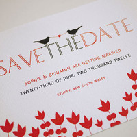 Two Birds Tied Together By Love - Save The Date (PRINTABLE) | Luulla