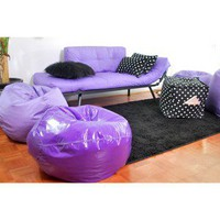 Mali Flex Futon - Purple with Polka Dot Pillows