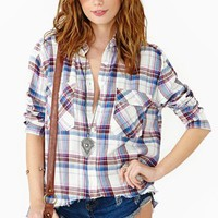 Split Plaid Shirt