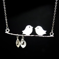 Bird on Branch Necklace