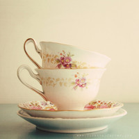 The Tea Cups charming feminine 8x8 photograph by SusannahTucker