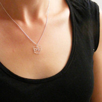 Kris Nations ohio outline necklace- silver | Tigertree ohio outline necklace- silver
