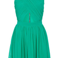 Wrap Mesh Skater Dress - Dresses  - Clothing