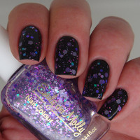 Glitter nail polish  Violet Days purple glitter by EmilydeMolly