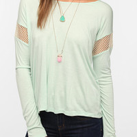 Daydreamer LA Mesh-Inset Boxy Tee