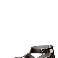 Report Jamieson Black Leather Buckled Gladiator Sandals