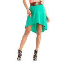 Crochet Belt Hi-Low Skirt: Charlotte Russe
