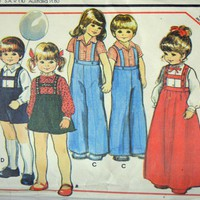 Toddler Pattern, German Folk Pants Skirt McCalls 5352, Uncut