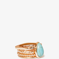 Faux Stone Ring Set | FOREVER21 - 1021841306