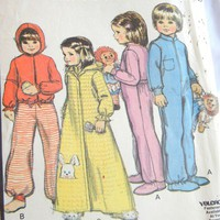 McCall&#x27;s Pattern 5780 Children&#x27;s Pajamas and Robe, Size 1, 70s