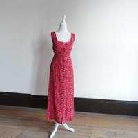 cute floral dresses / spring floral dresses / maxi dress / cute red dresses