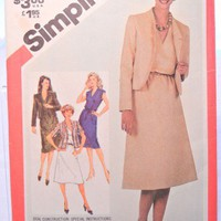 Simplicity Sewing Pattern 5435 Misses 10 Pullover Dress Jacket