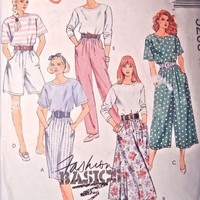 McCalls Sewing Pattern 5205 Misses 8 to 12 Top Skirt Pants Vintage