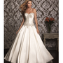 2013 Allure Bridal - Ivory & Silver Satin Swarvoski Crystal Wedding Gown - Unique Vintage - Prom dresses, retro dresses, retro swimsuits.