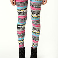 Sandy Aztec Print Leggings